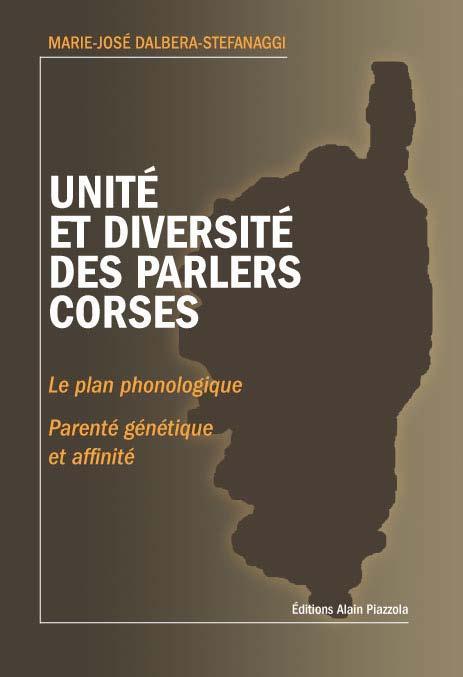 UNITE ET DIVERSITE DES PARLERS CORSE