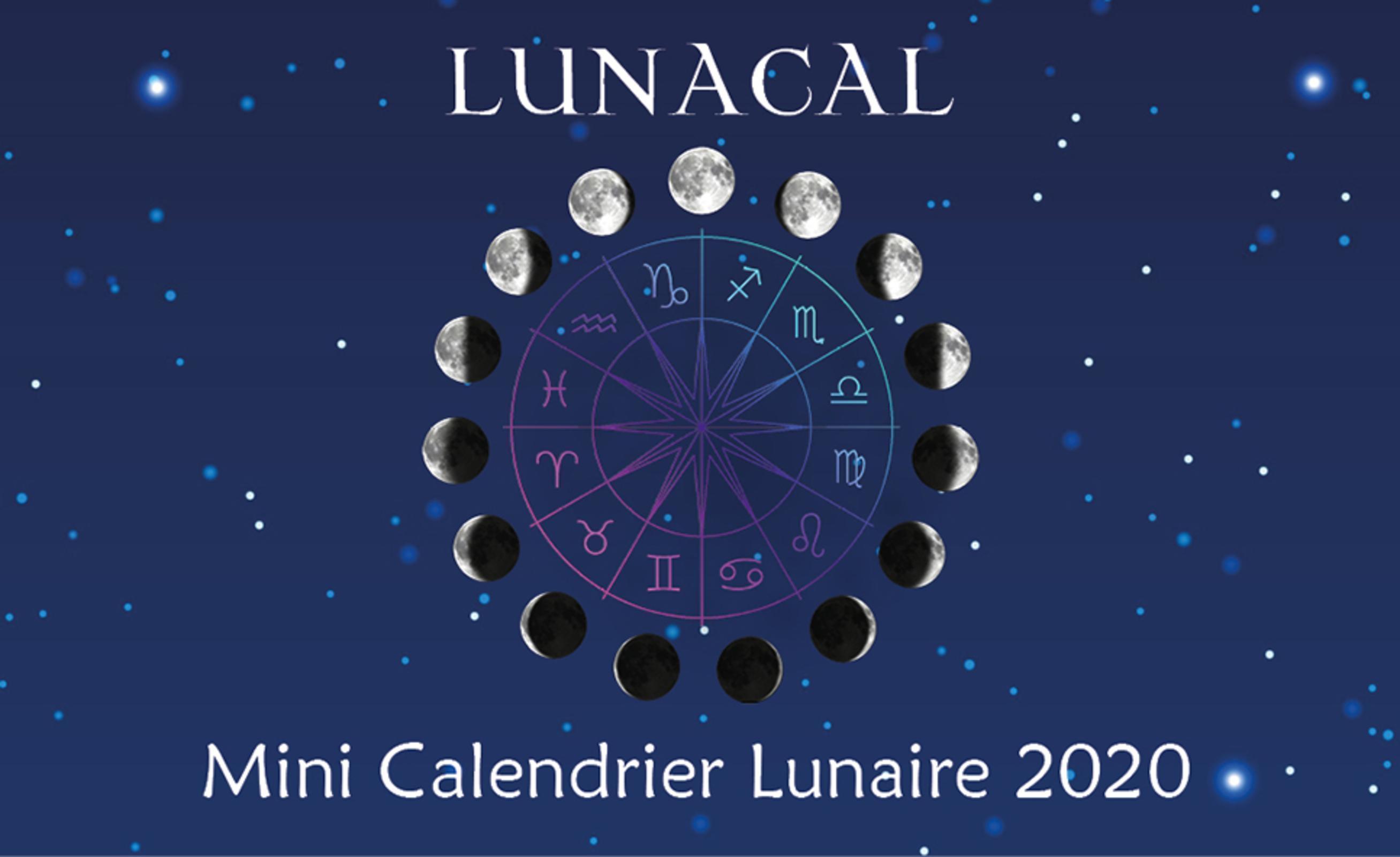 LUNACAL, MINI CALENDRIER LUNAIRE 2020