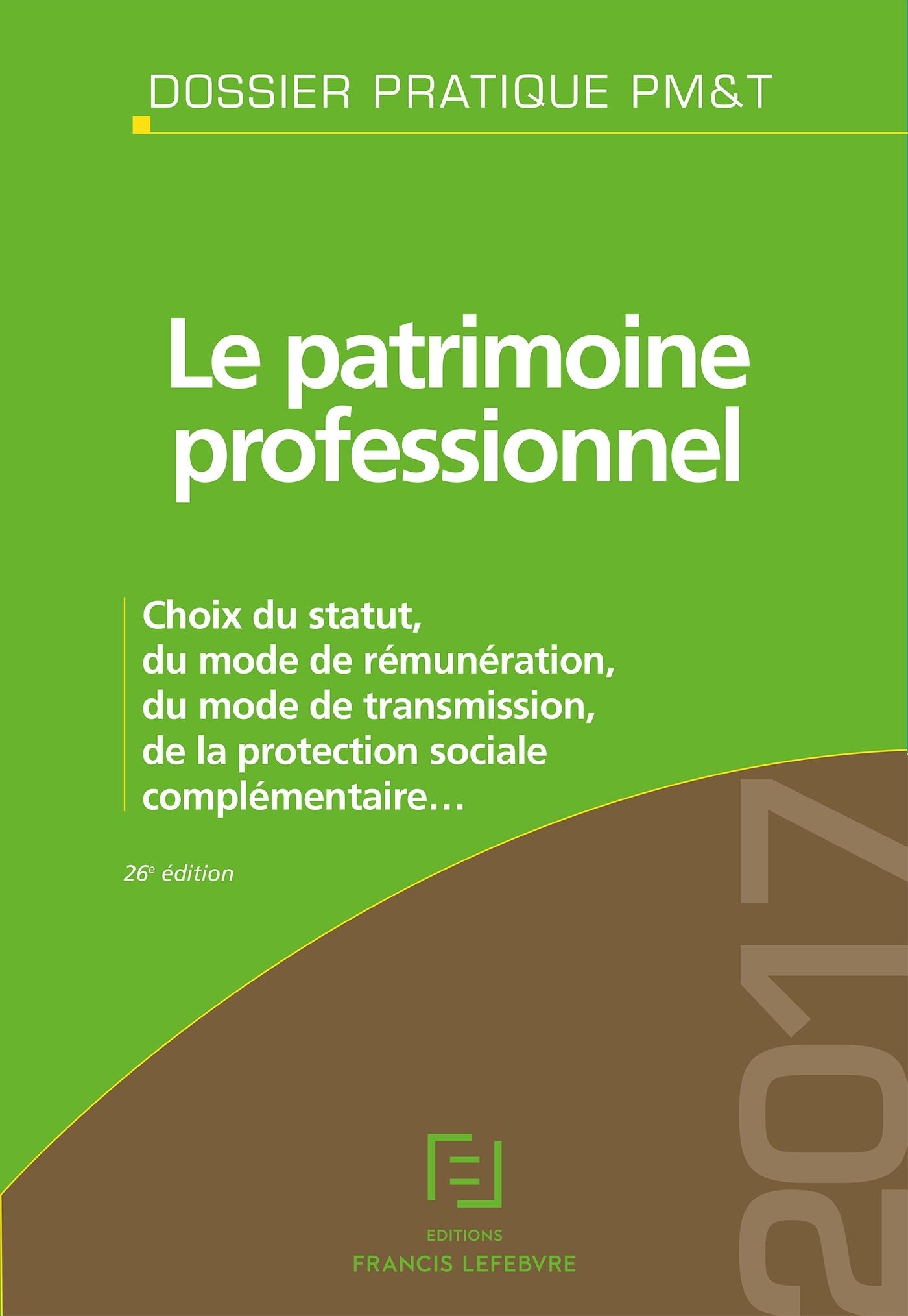 LE PATRIMOINE PROFESSIONNEL 2017