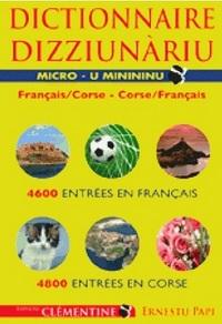 MICRO DICTIONNAIRE DE LA LANGUE CORSE