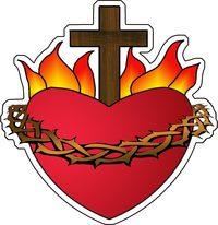 AUTOCOLLANT LE SACRE COEUR DE JESUS