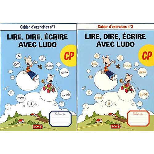 LOT DE 2 CAHIERS D'EXERCICES - METHODE DE LECTURE LUDO