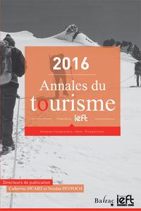2016, ANNALES DU TOURISME