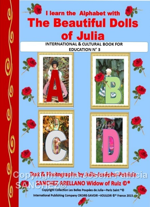 """LITTLE BOOK ""I LEARN THE ALPHABET WITH THE BEAUTIFUL DOLLS OF JULIA"""