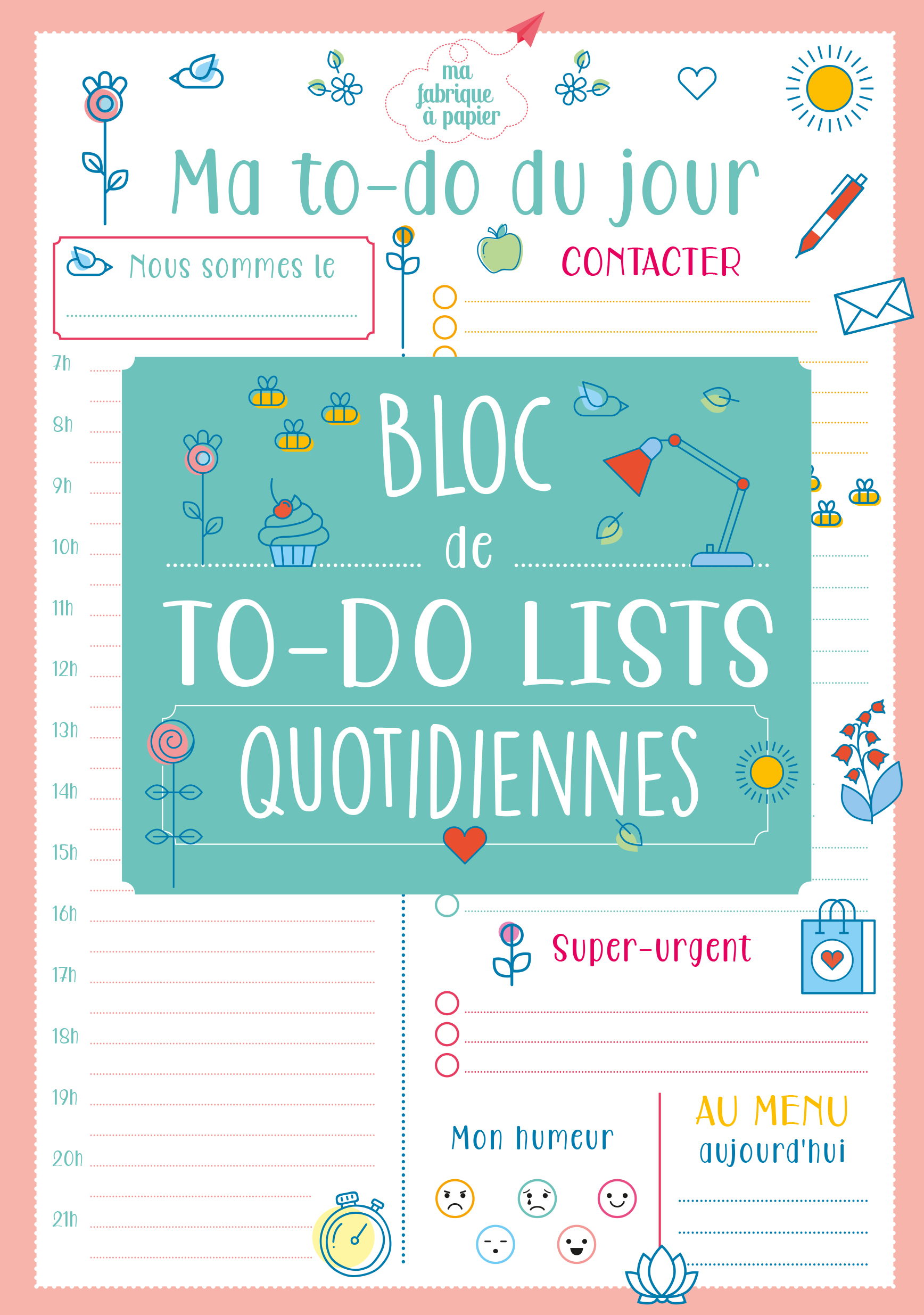 MA TO-DO LIST DU JOUR 2020