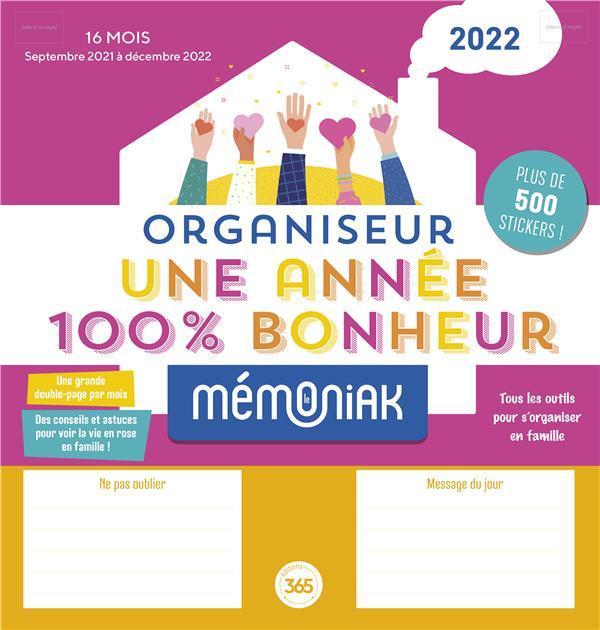 Organiseur une annee 100 % bonheur memoniak 2021-2022