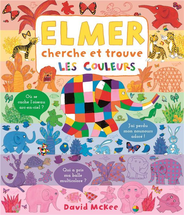 Elmer cherche et trouve - les couleurs