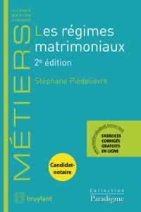 LES REGIMES MATRIMONIAUX