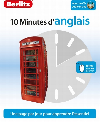 ANGLAIS (D'), 10 MINUTES - NIVEAU DEBUTANT -1 LIVRE+ CD