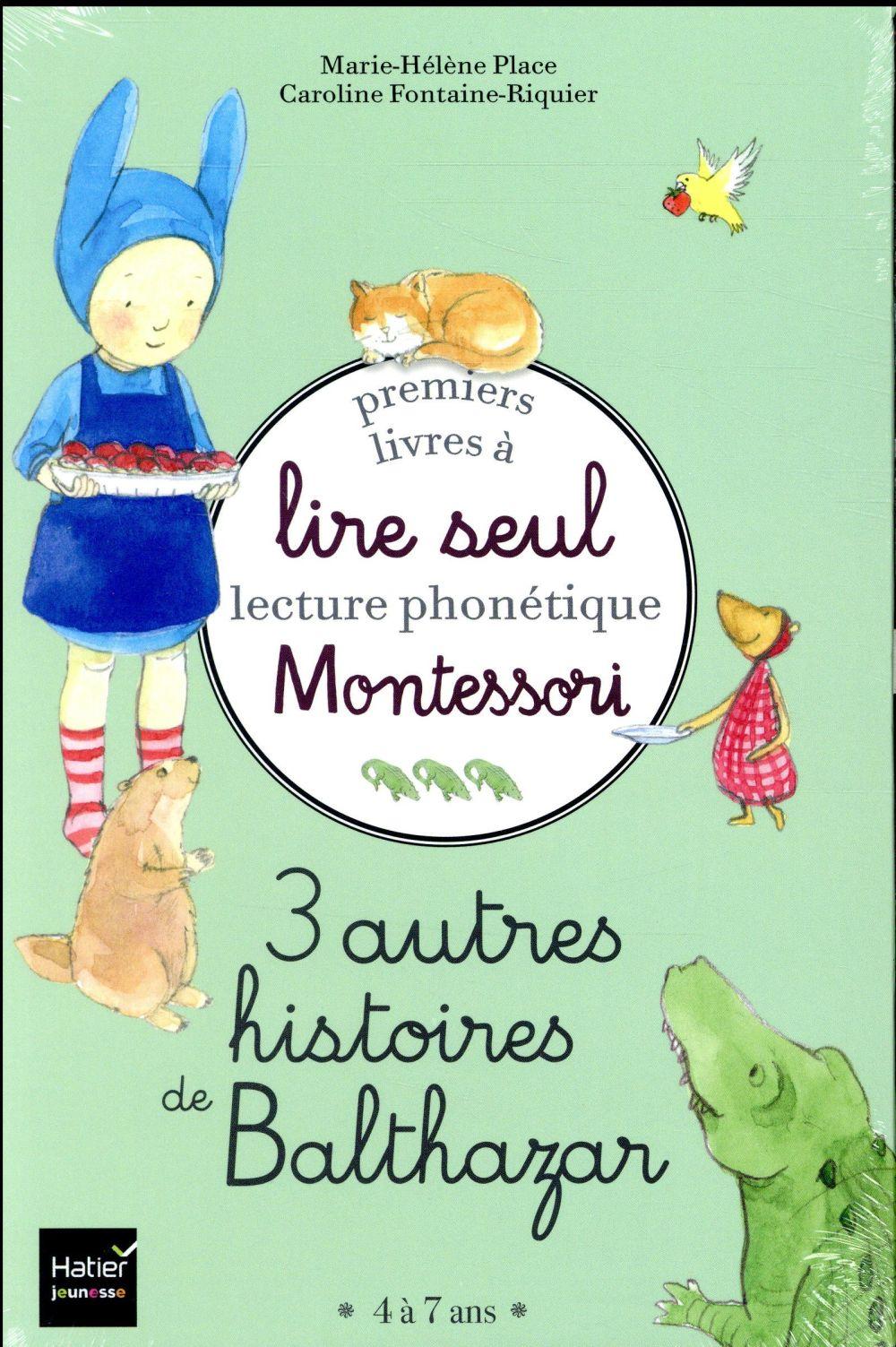 Coffret premiers livres a lire seul 3 autres histoires de balthazar niveau 3 pedagogie montessori