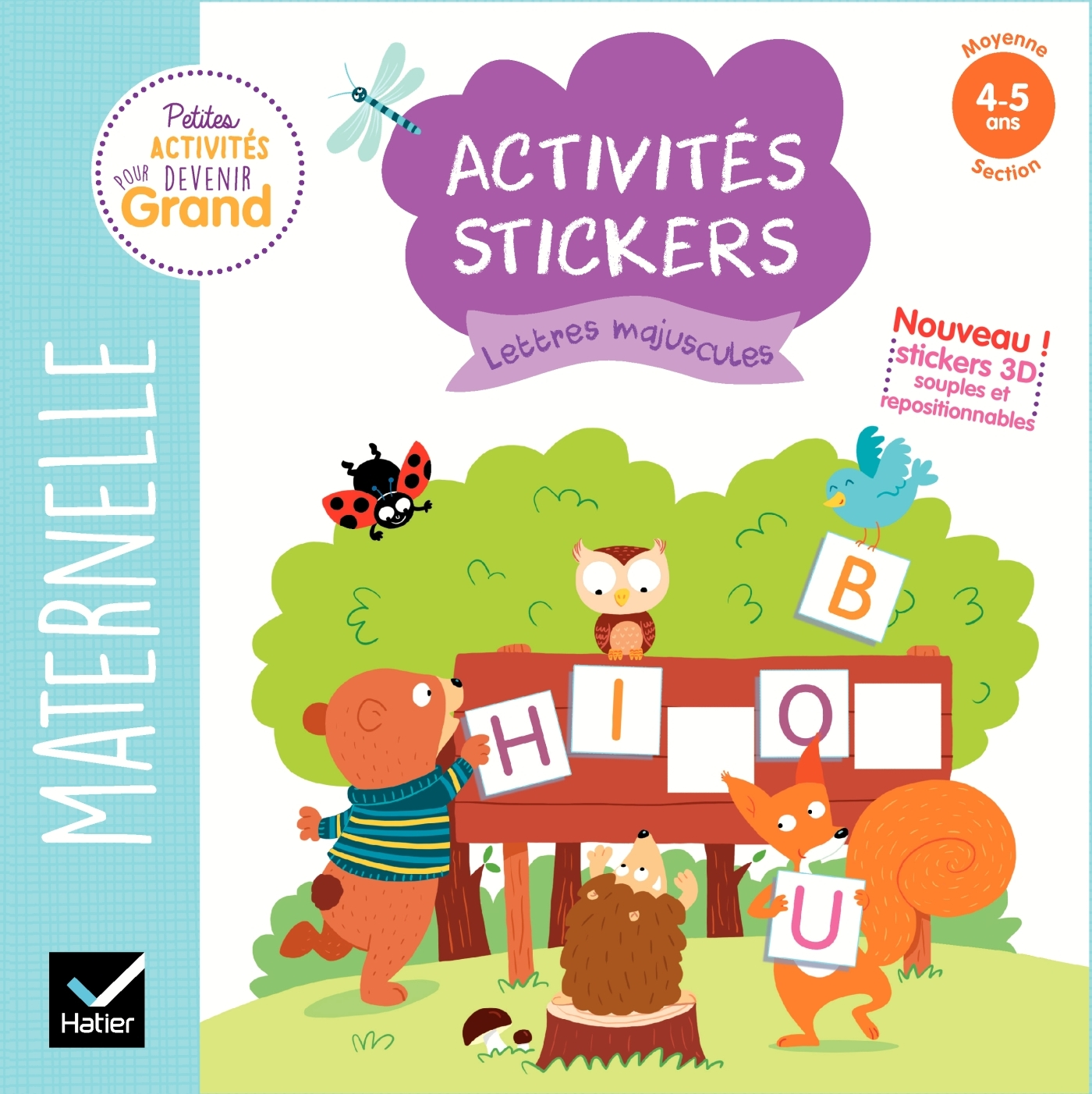 ACTIVITES STICKERS - LETTRES MAJUSCULES MOYENNE SECTION