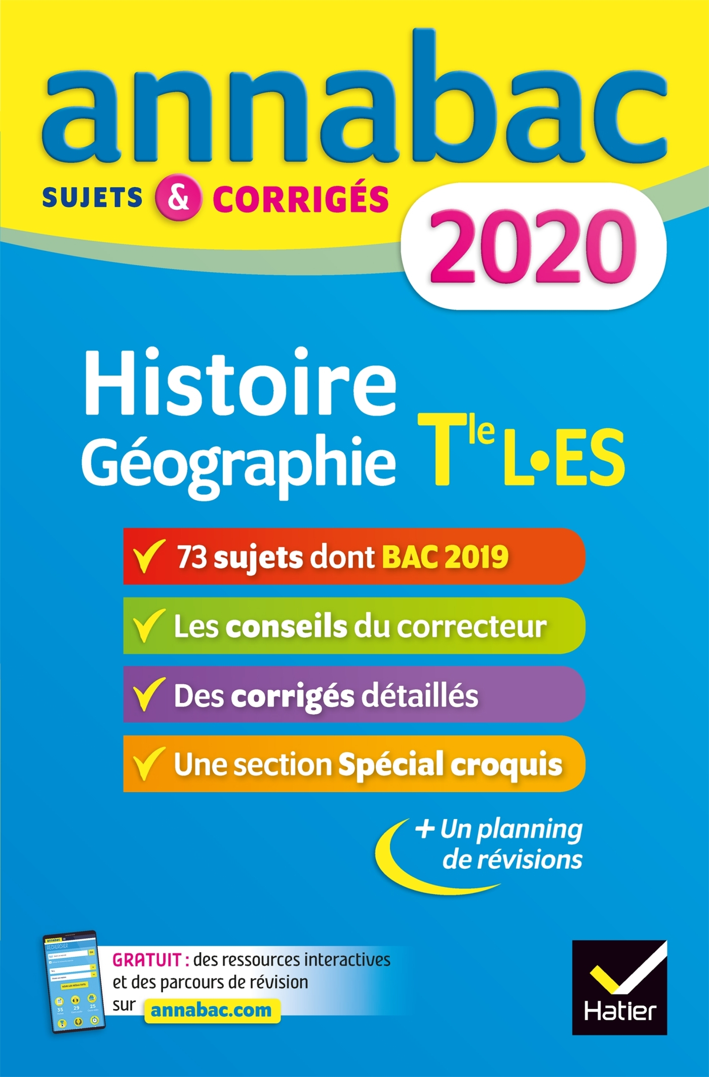 ANNALES ANNABAC 2020 HISTOIRE-GEOGRAPHIE TLE L, ES