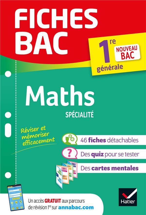 Fiches bac maths 1re generale (specialite) - nouveau programme de premiere