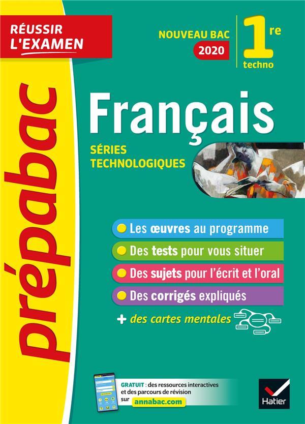 Francais 1re technologique  bac 2020 - inclus oeuvres au programme 2019-2020