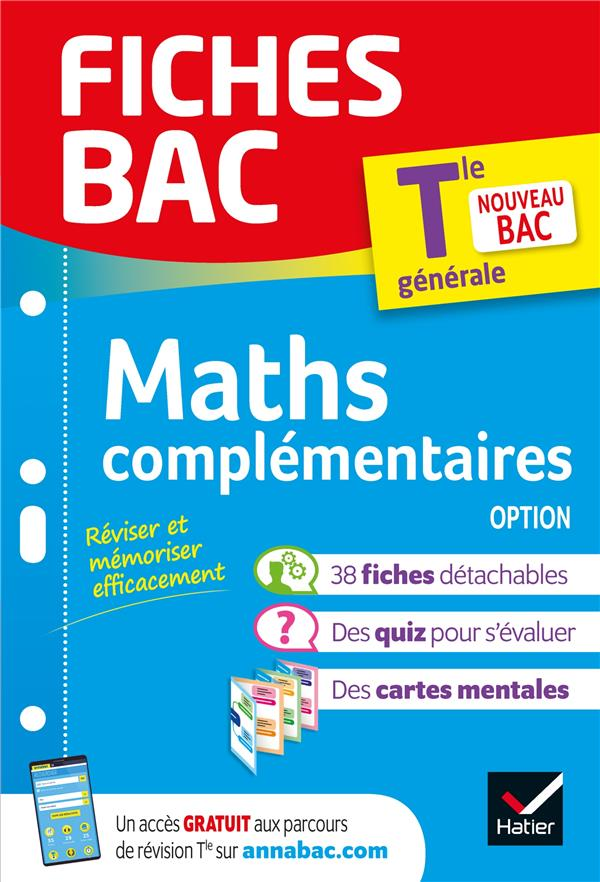 Fiches bac maths complementaires tle (option)