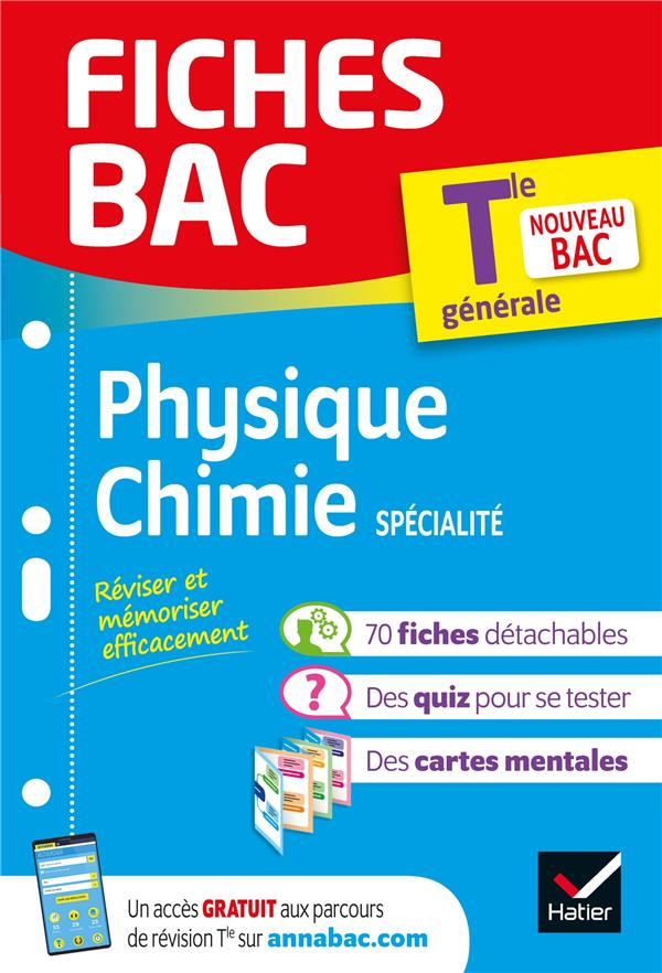Fiches bac physique-chimie tle (specialite)