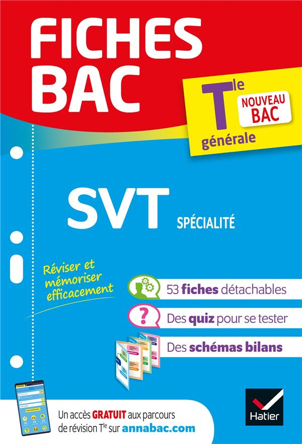 Fiches bac svt tle (specialite)