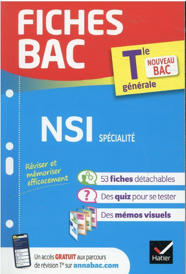 Fiches bac nsi tle generale (specialite) - bac 2022 - nouveau programme de terminale