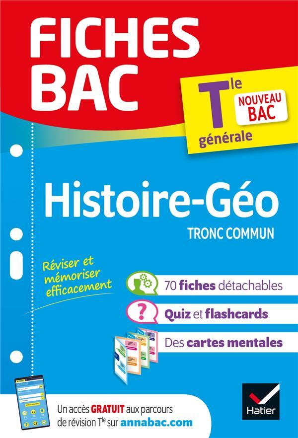 Fiches bac histoire-geographie tle (tronc commun)