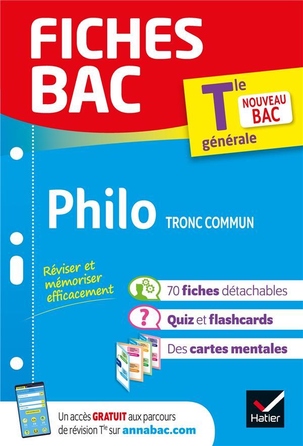 Fiches bac philosophie tle (tronc commun)