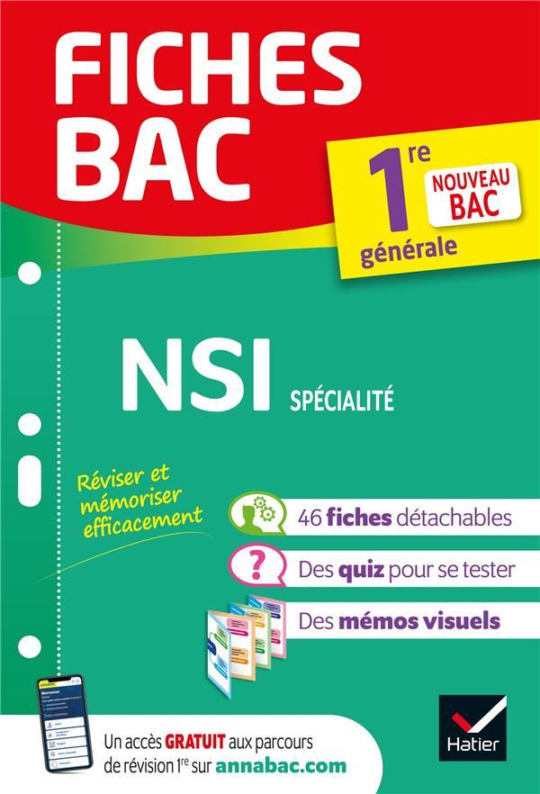 Fiches bac nsi 1re generale (specialite) - bac 2022 - nouveau programme de premiere