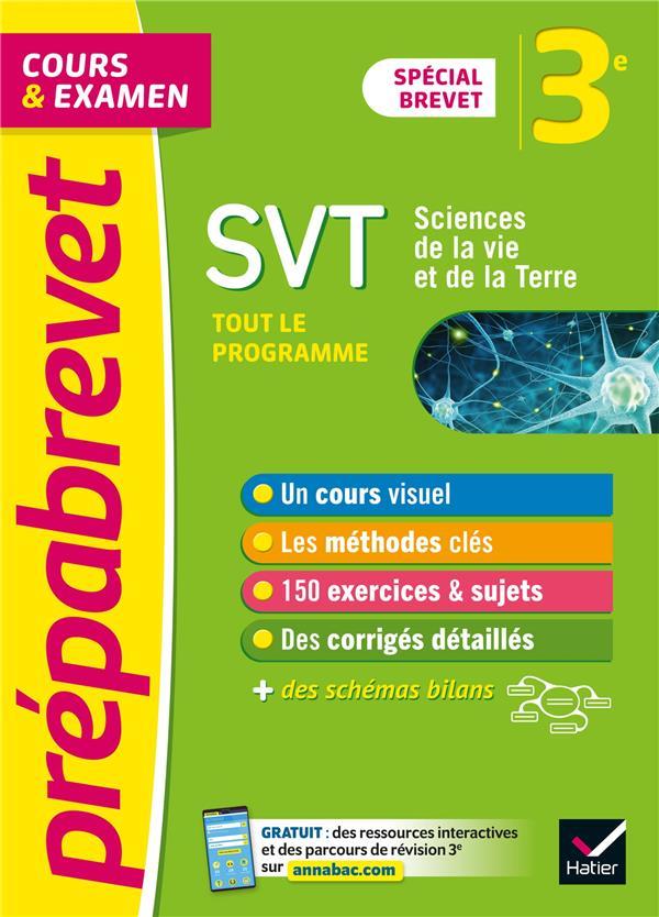 Prepabrevet svt 3e brevet 2022 - cours, methodes et entrainement