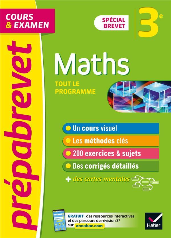 Prepabrevet maths 3e brevet 2022 - cours, methodes et entrainement