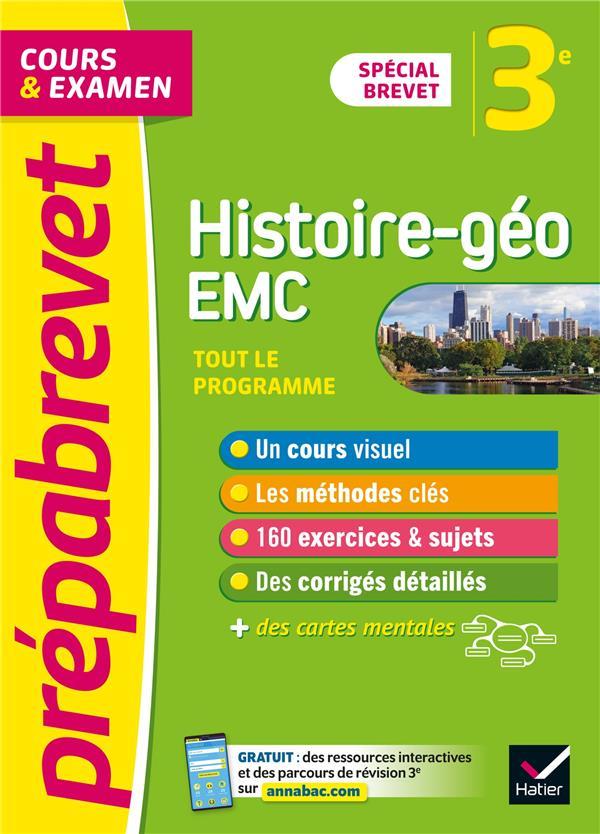 Prepabrevet histoire-geographie emc 3e brevet 2022 - cours, methodes et entrainement
