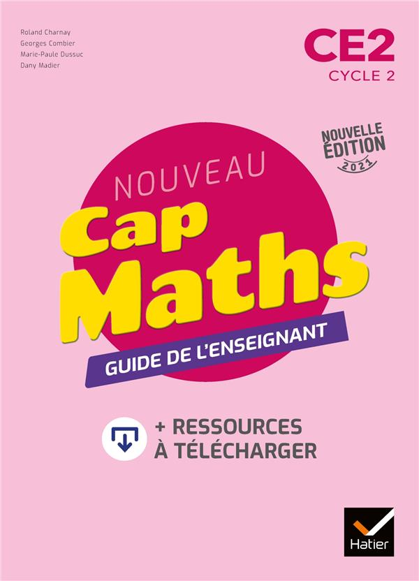Cap maths ce2 - ed. 2021 - guide pedagogique + ressources a telecharger