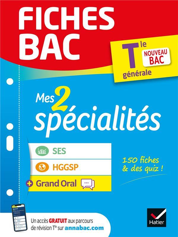 Fiches bac mes 2 specialites tle generale : ses, hggsp & grand oral - bac 2022 - nouveau programme d