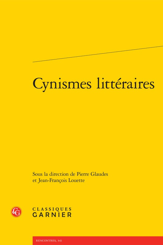 CYNISMES LITTERAIRES