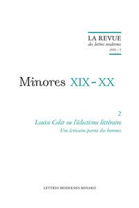 LOUISE COLET OU L'ECLECTISME LITTERAIRE - 2020 - 5 - UNE ECRIVAINE PARMI DES HOMMES