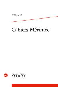 CAHIERS MERIMEE - 2020, N  12