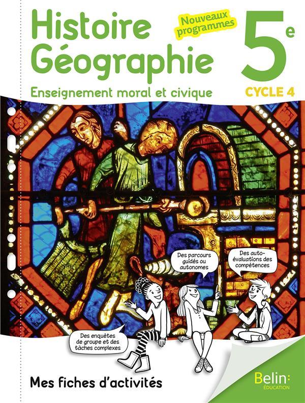 Histoire geographie emc 5e 2017 mes fiches d'activites