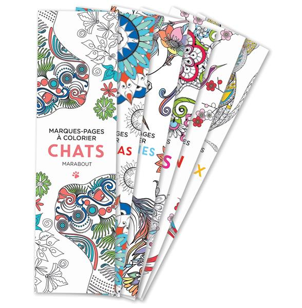 Marque-pages a colorier - chats