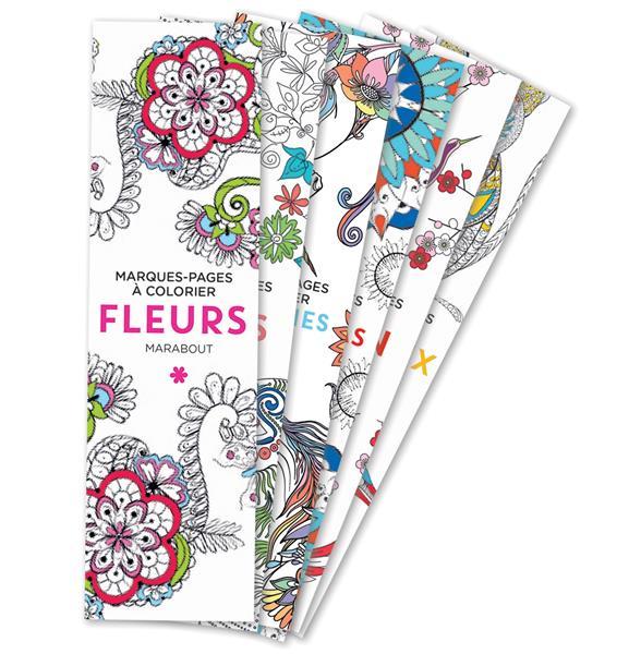 Marque-pages a colorier - fleurs
