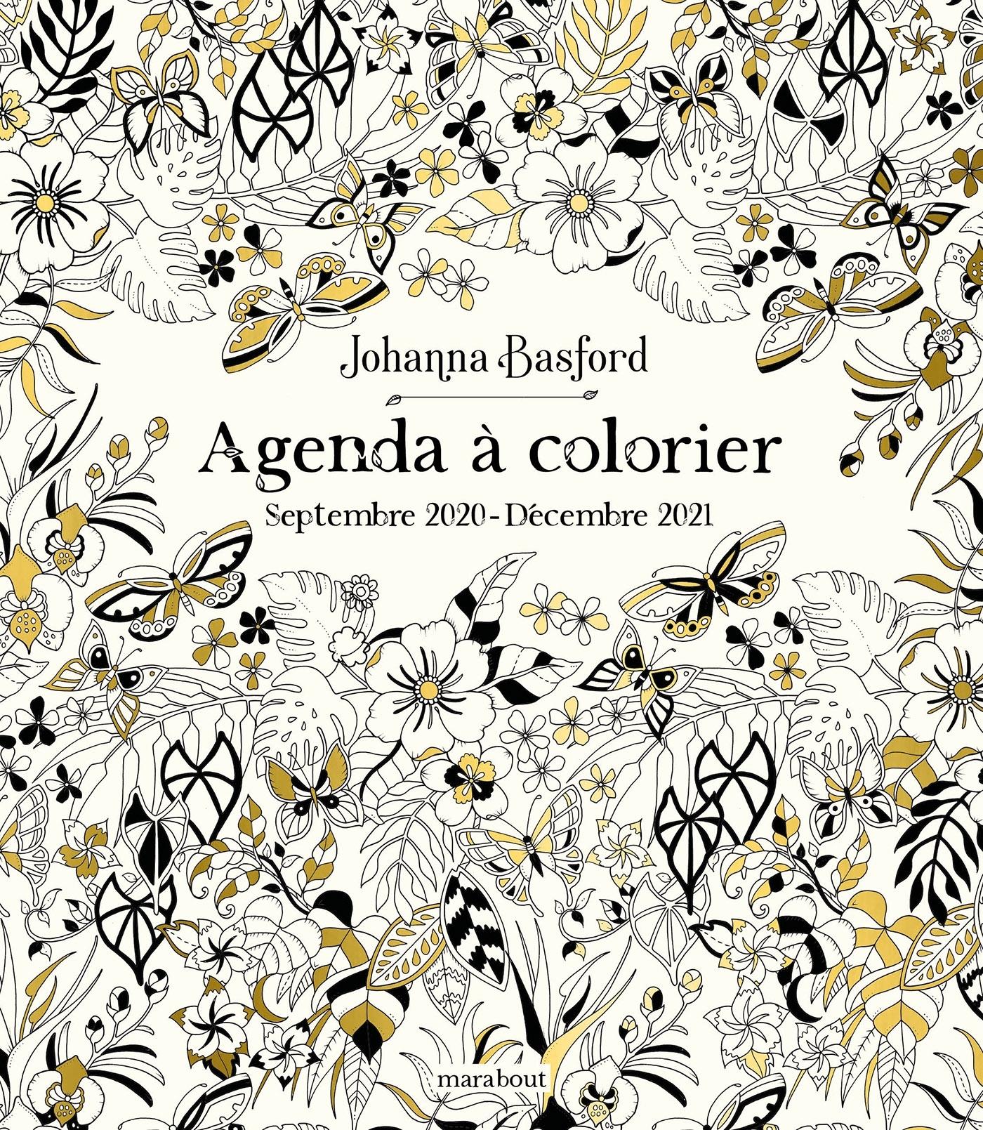 AGENDA A COLORIER 2021 - JOHANNA BASFORD