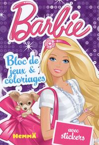 BARBIE BLOC DE JEUX & COLORIAGES AVEC STICKERS