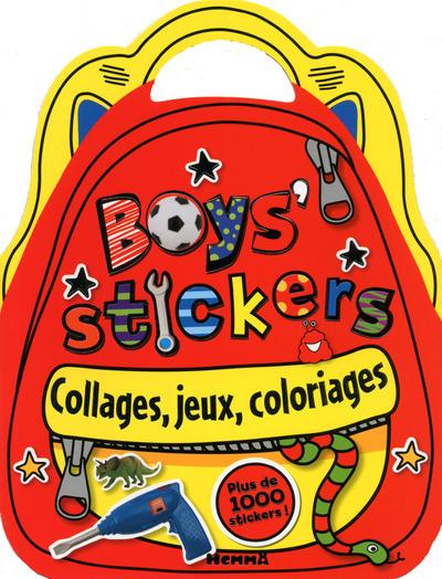 BOYS STICKERS COLLAGES, JEUX, COLORIAGES