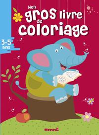 MON GROS LIVRE DE COLORIAGE (3-5 ANS) (ELEPHANT)