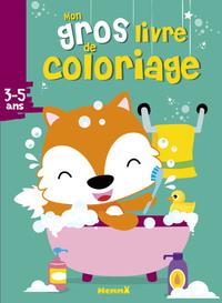 MON GROS LIVRE DE COLORIAGE (RENARD) (3-5 ANS)