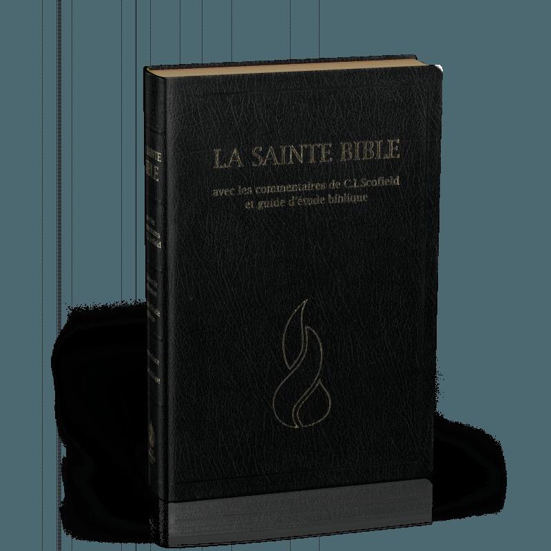 BIBLE NEG SCOFIELD : FIBROCUIR NOIR, TRANCHES OR, ONGLETS DECOUPES