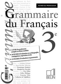 GRAMMAIRE DU FRANCAIS 3E - CLASSEUR  ITINERAIRES  POUR LE PROFESSEUR