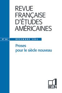 RFEA N 94 (2002-4) - PROSES POUR LE SIECLE NOUVEAU