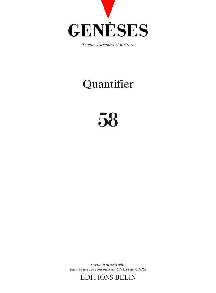 GENESES N 58 - QUANTIFIER