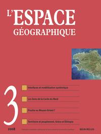 L'ESPACE GEOGRAPHIQUE N 3 - SEPT.-08