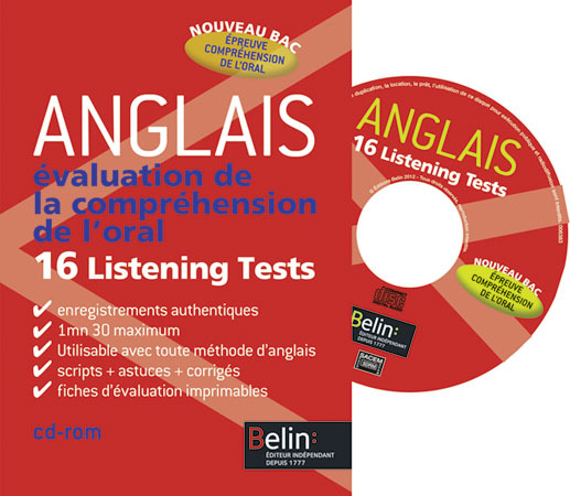 ANGLAIS EVALUATION DE L'ORAL : CD CLASSE
