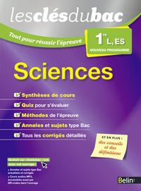 SCIENCES - PREMIERE L, ES - LES CLES DU BAC