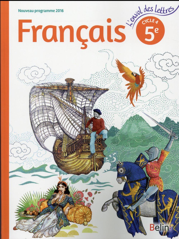 L'envol des lettres francais 5e 2016 - livre eleve grand format