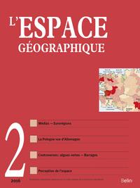 L'ESPACE GEOGRAPHIQUE 2016-2 - SPATIALITES LITTERAIRES